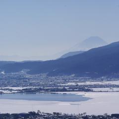 諏訪湖と富士