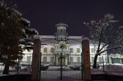 雪夜の開智学校