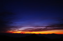 横手山夕景