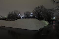 雪夜の外堀