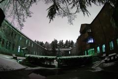 雪夜のお散歩:あがたの森公園