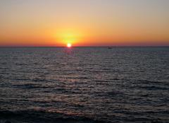 八丈島の夕日