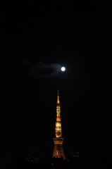 TOKYOTOWEAwithFULLMOON