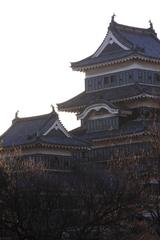 朝焼けの城