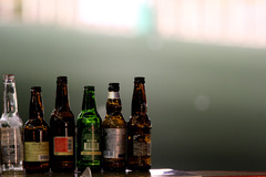 ビールと競馬場