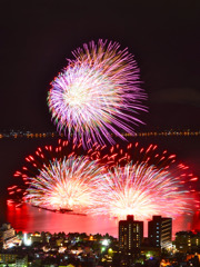 諏訪湖湖上花火大会フィナーレ5