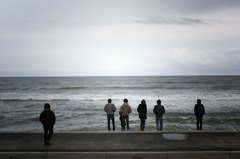 荒れた人生と波