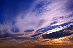 なんか不気味な雲