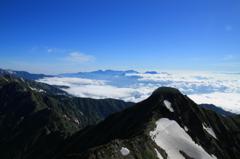 鹿島槍南峰よりの眺め