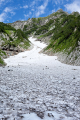 夏の白馬大雪渓