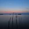 琵琶湖の黄昏時
