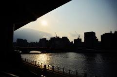 隅田川黄昏