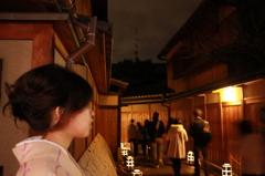 着物の似合う風景の夜