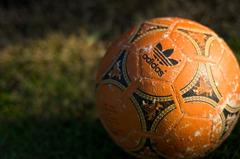 夕方サッカーボール