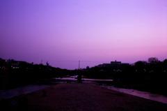 夕方の鴨川