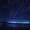 漁火と冬の星座