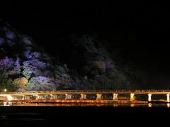 渡月橋 ライトアップ