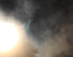 ハレーションが金環日食