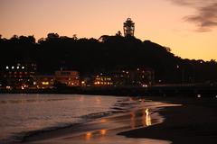 江の島の夕暮れ