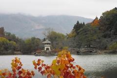 紅葉の三島池