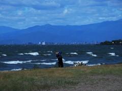琵琶湖、撮る人