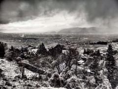 『信濃雪景色』