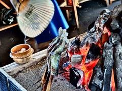 『白根魚苑 炭火焼』