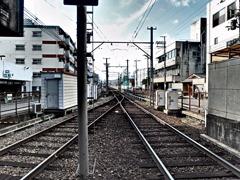 『嵐電 北野白梅町駅』