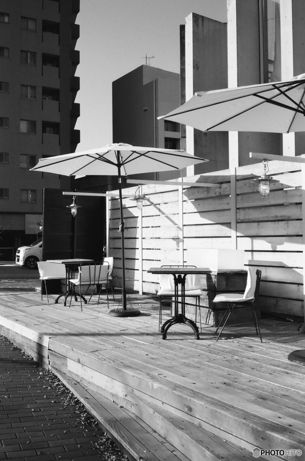 冬の朝カフェ