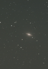玄関ポーチで試写 ソンブレロ銀河