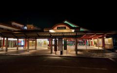 夜の太宰府駅