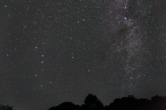 北斗七星と天の川
