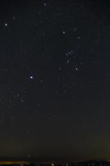 オリオンと冬の大三角、そしてカノープス