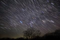 星々が描く西空のアート