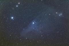 玄関ポーチで試写 《青い馬星雲 IC4592》