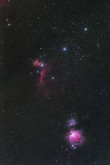 冬の夜空の三ツ星領域
