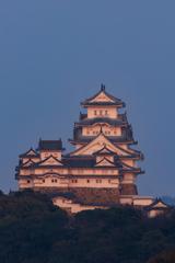 夕陽に染まる白鷺城