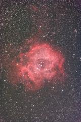 玄関ポーチで試写 《バラ星雲 with LPS-P2》