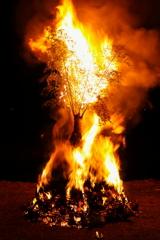 龍野のとんど焼き ①