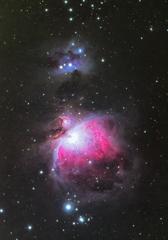 クリスマスの夜のオリオン大星雲
