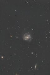 玄関ポーチでM100銀河