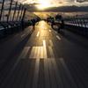スカイデッキの夕陽