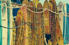 サーフボードの整列