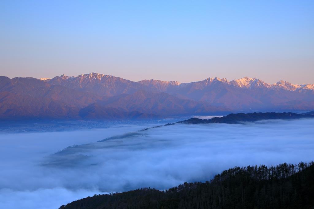 安曇野雲海