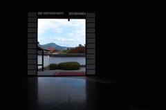 比叡山の見える部屋