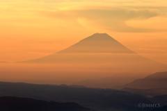 染まる富士
