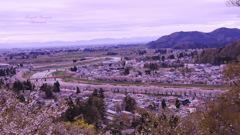 Superb view in Kakunodate...