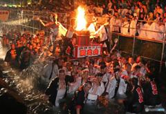 富士山御神火祭りで -T