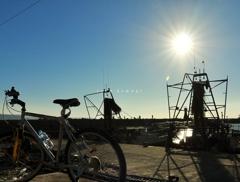 愛車と漁船