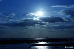 これでも、一応夕方の太陽なんです。